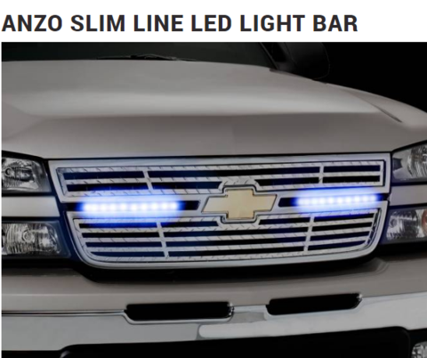 Anzo slimline led light bar universal fit for cars and trucks led what a head turner this is as you see it coming down the road anzo slimline led light bar universal fit for cars and trucks auto truck accessories aloadofball Image collections