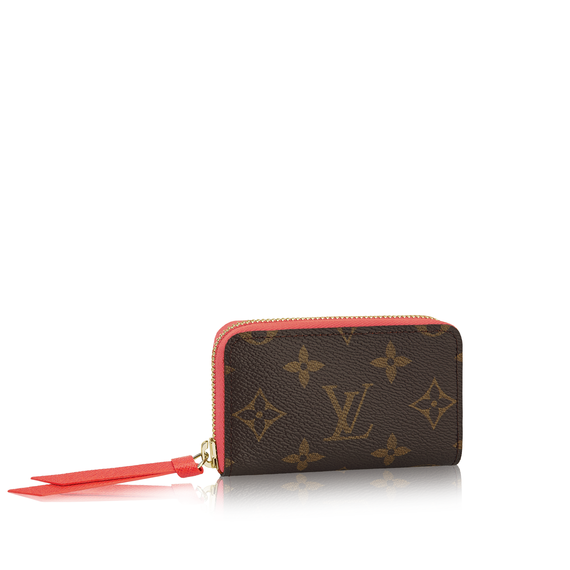 3ce01df86f8 Add a pop of color to your wallet with the Louis Vuitton Zippy Multicartes  card holder. Featuring the iconic canvas Monogram lined with the brightly  colored ...