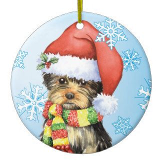 Yorkshire Terrier Christmas Ornament Happy Howlidays Yorkshire