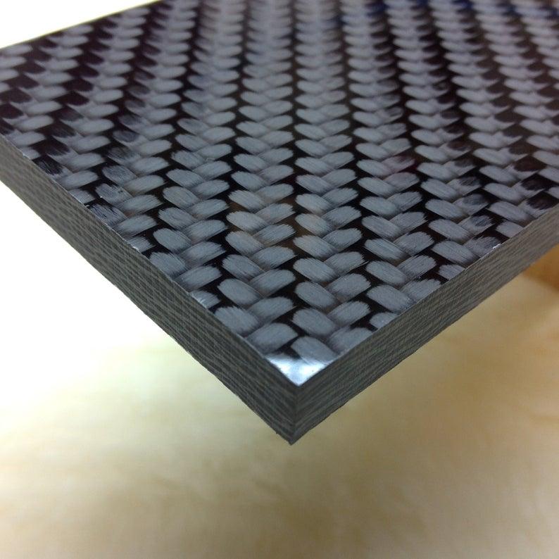 1 4 Cw Carbon Fiber Plate Carbonwaves Carbon Fibre Sheet Etsy Carbon Fiber Carbon Fiber