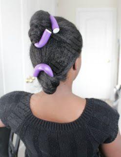 how i do my flexi rods  relaxed hair flexi rod curls