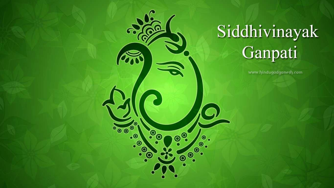 Free Download Sidhivinayak Ganpati Pic This Is A 3d Art Of Ganeshji With Green Background To Adorn Your Desk Green Backgrounds 3d Art Christmas Wallpaper Free