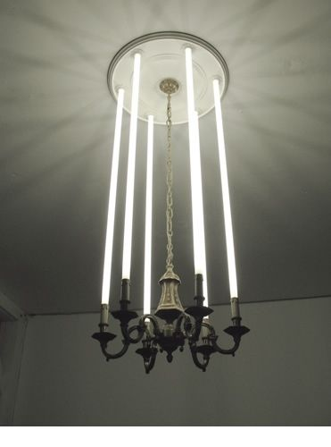 Fluorescent Tube Chandelier Creative Lighting Lamp Design Lighting Inspiration
