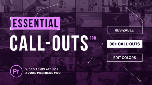 Free Download Essential Callouts Library | MOGRT for