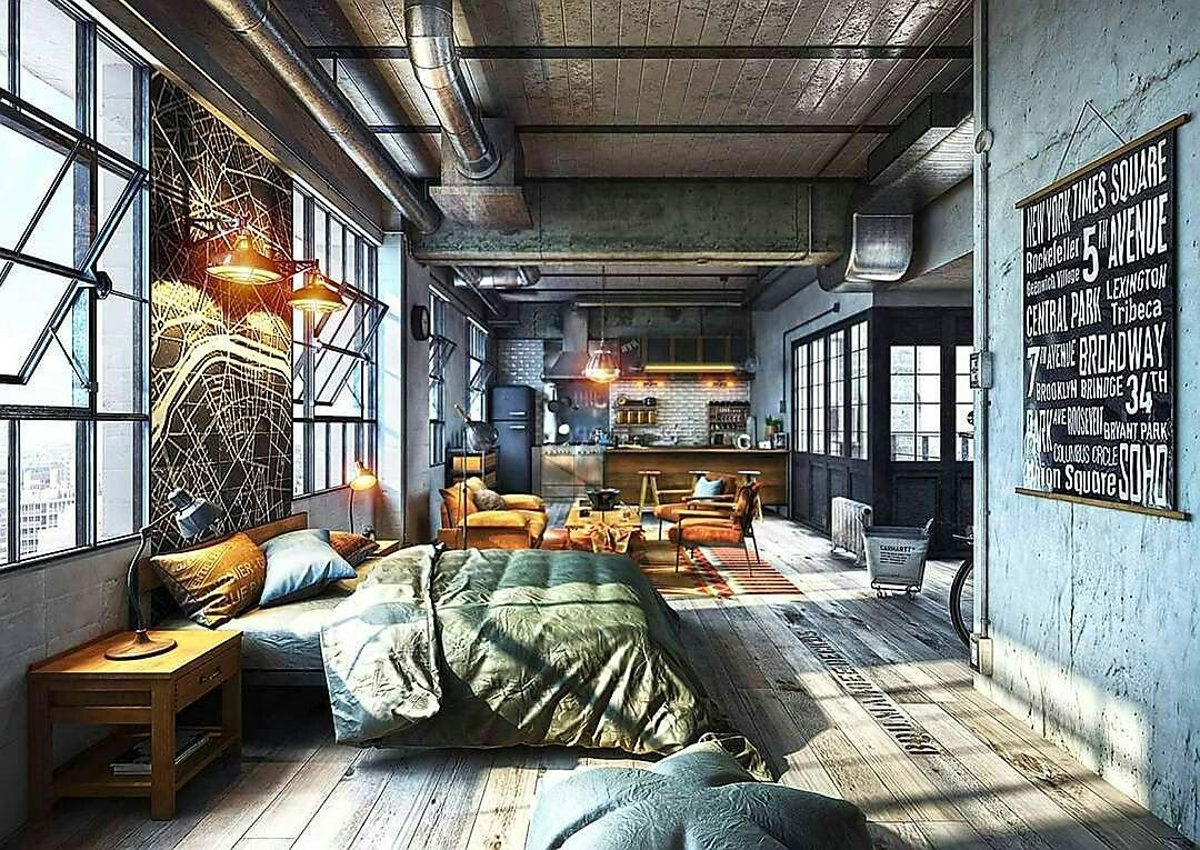 Feel Inspired With These New York Industrial Lofts Mens Apartment DecorLoft DecoratingCozy Studio