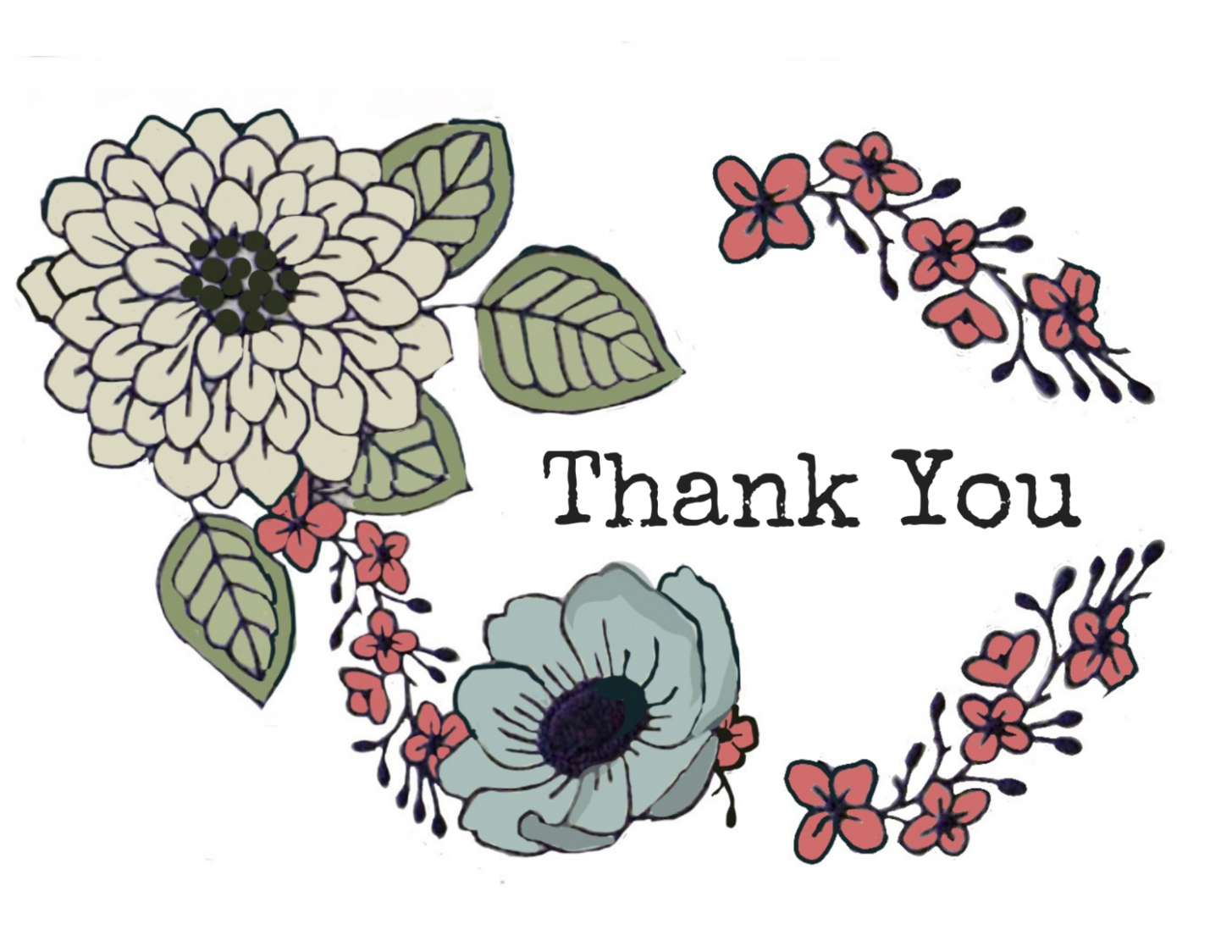 5 Japanese Thank You Card