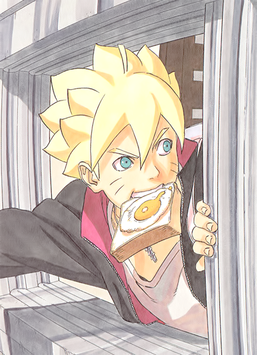 Following his father's steps :D That's right, Boruto!!! :D