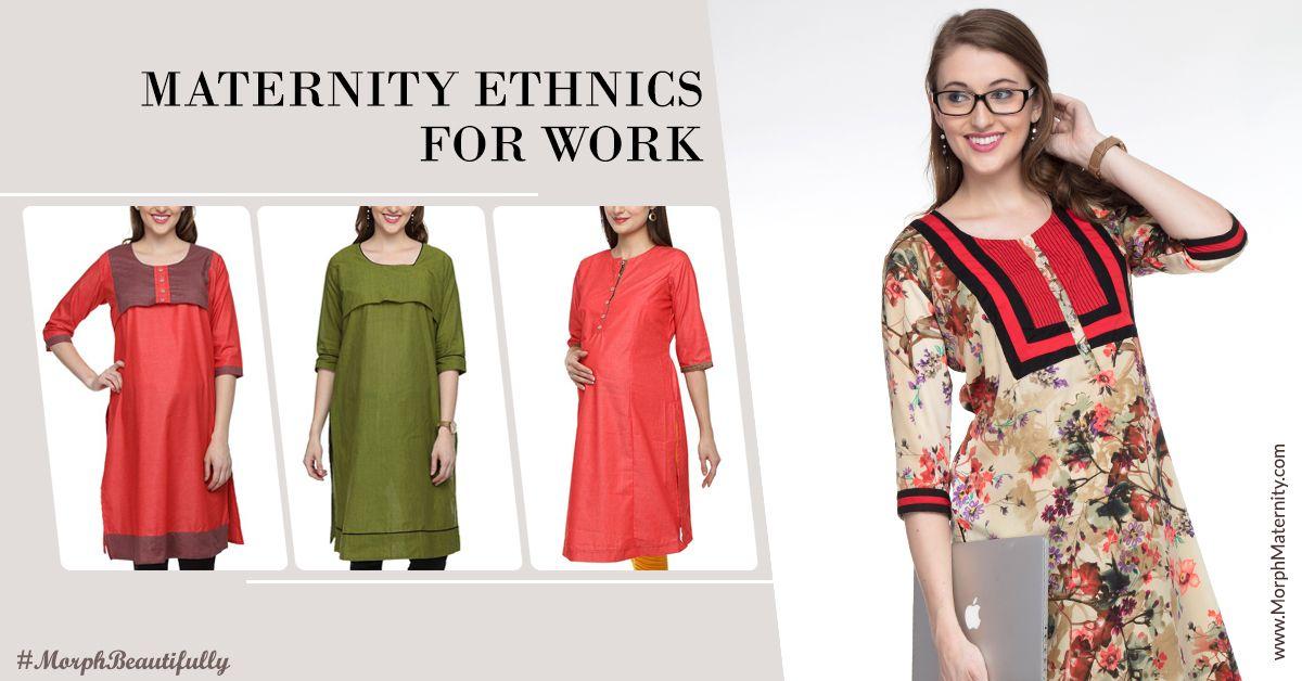 fbd893294943d Smart Ethnic Dressing For Work #MaternityKurtis #PregnancyWear ...