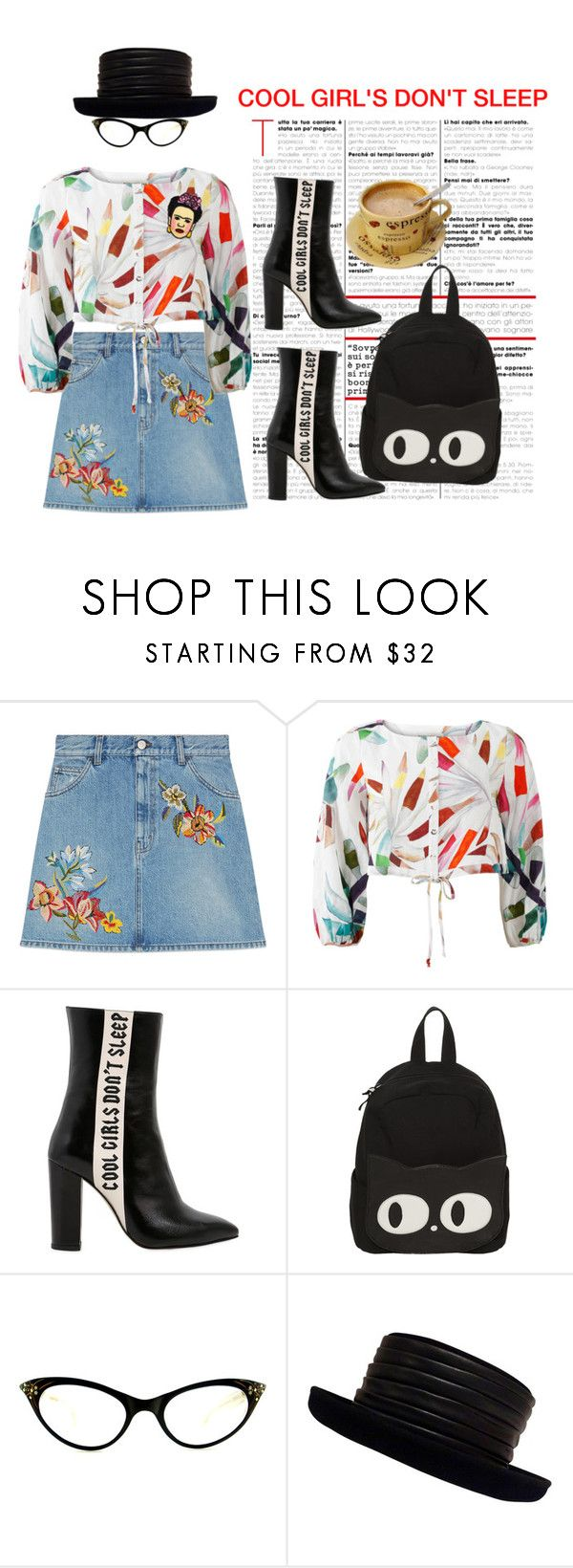 """""""COOL GIRL'S DON'T SLEEP"""" by confusgrk ❤ liked on Polyvore featuring Gucci, Mara Hoffman, Havva, Kokin, polyvorecommunity, polyvoreeditorial and AmiciMei"""