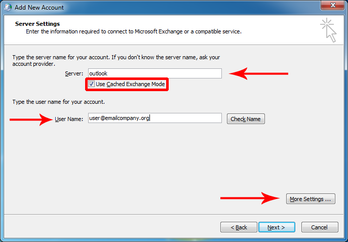 Manually Configure Outlook 2010 For Email Hosted On Exchange 2013 Computer Help Outlook Alliance