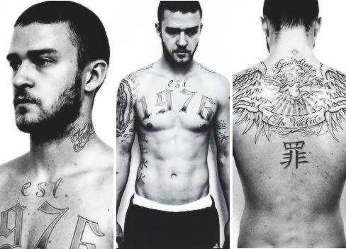 Justin Timberlake Justin Timberlake Tattoos Justin Timberlake