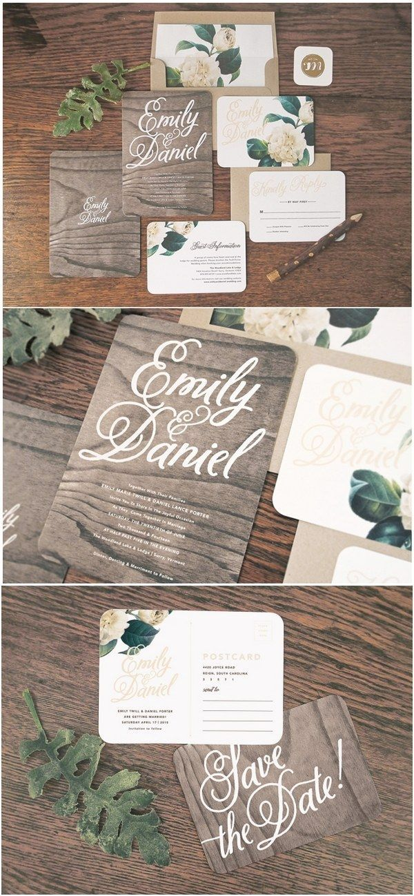 Woodland Floral Wedding Invitation & Correspondence Set / http://www ...