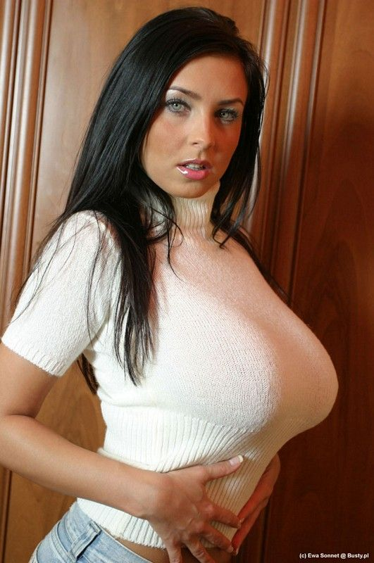 Busty women in tight sweaters