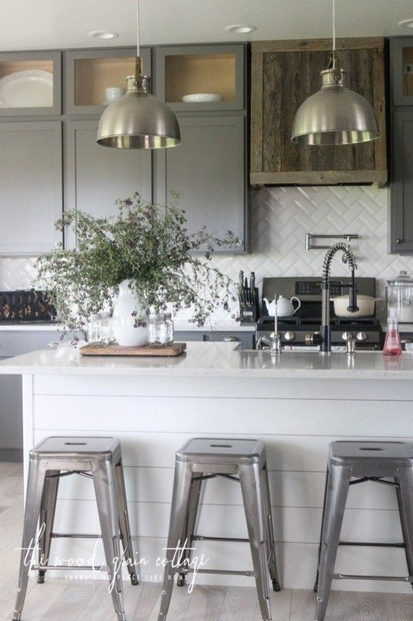 88 Modern European Farmhouse Kitchen Cabinet Ideas | Farmhouse ...