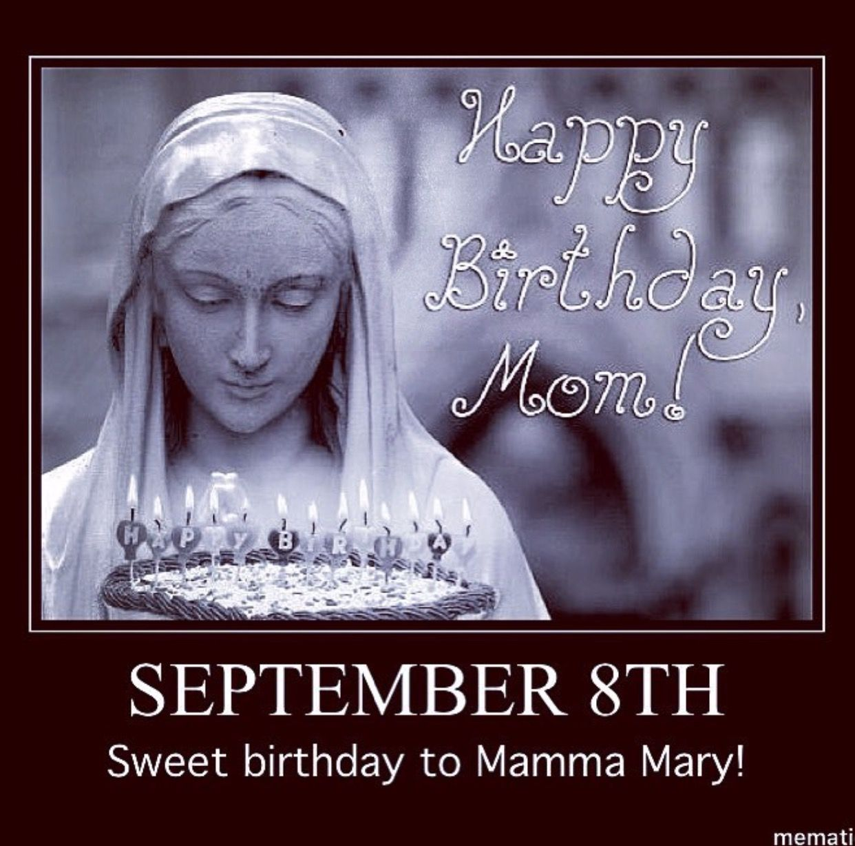 Happy Birthday to the Mother of all of us! Mother mary