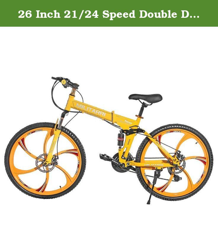 26 Inch 21 24 Speed Double Disc Brake Full Suspension Folding