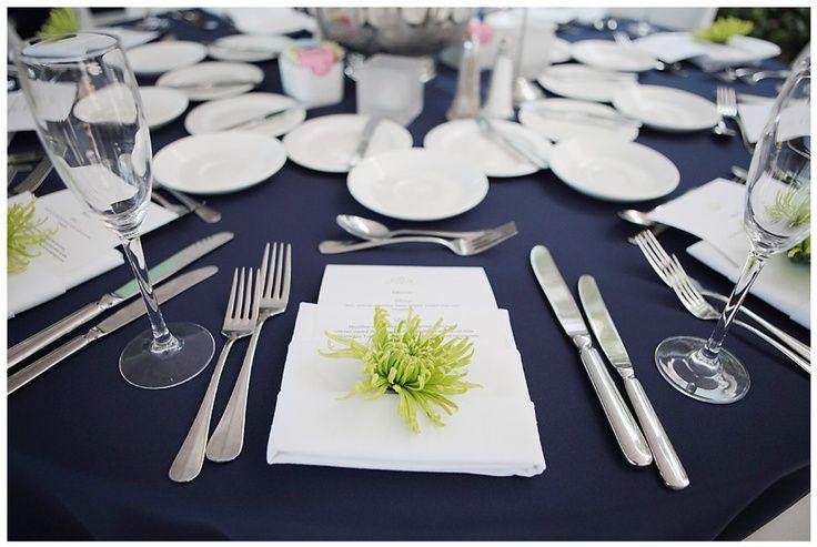 Beautiful fresh take on a navy wedding