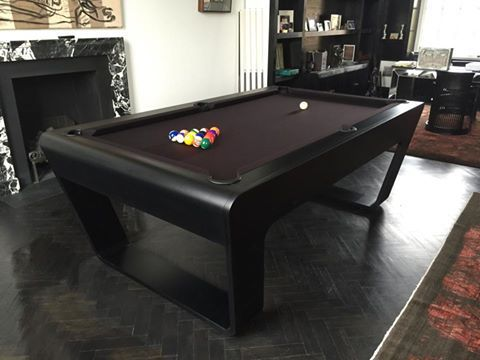 Contemporary 24 7 Pool Table In Deep Nocturne Color With Black Cloth Billiards Pool Table Modern Pool Table