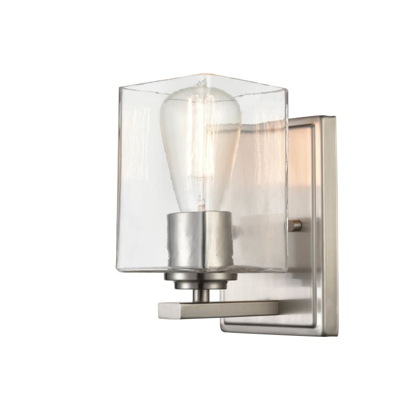 Photo of Miseno ML75731 Ozark 8″ Tall Bathroom Sconce Brushed Nickel Indoor Lighting Bathroom Fixtures Bathroom Sconce