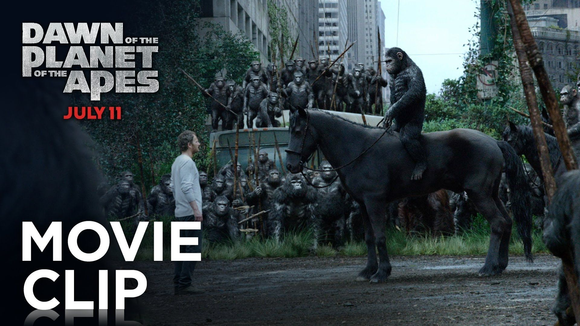 Dawn Of The Planet Of The Apes Apes Don T Want War Clip Hd