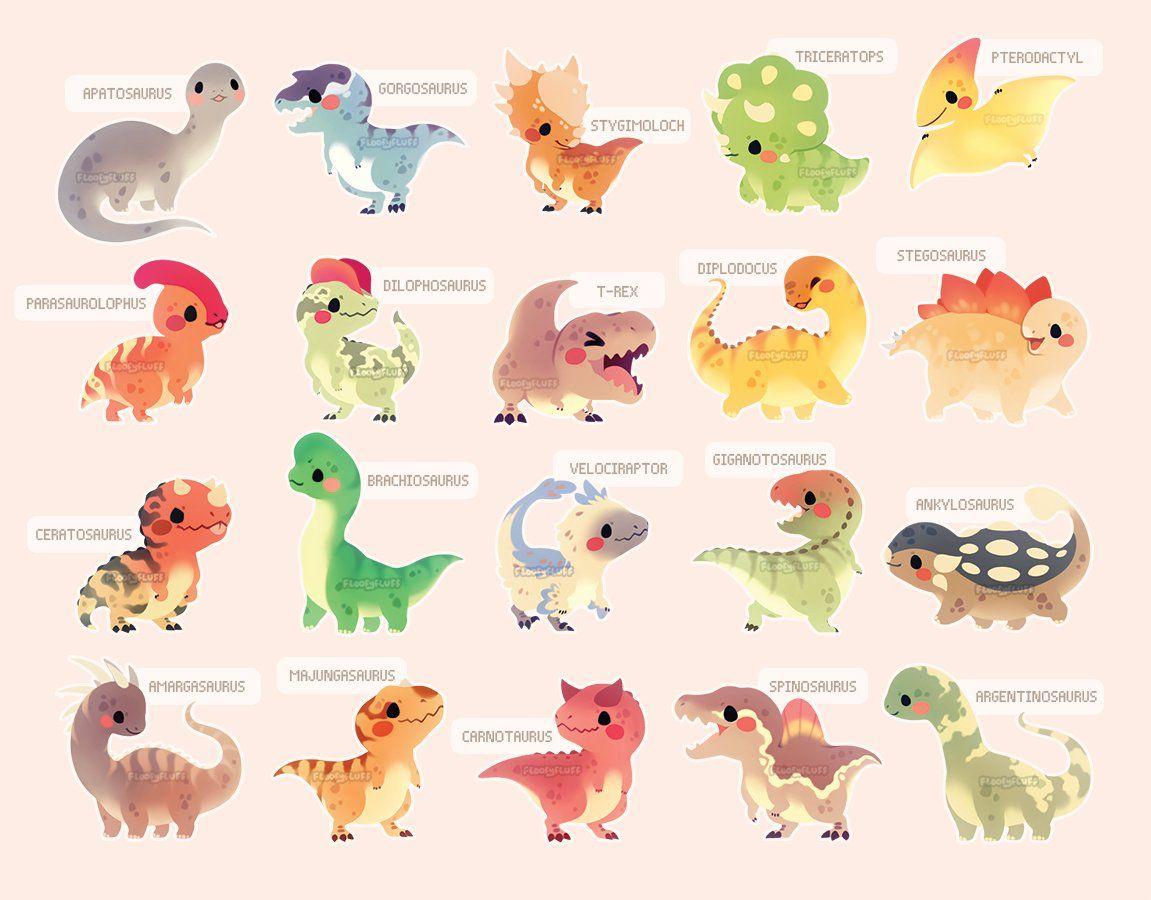 The Cutest Dinosaurs Ever Cute Animal Drawings Cute Dinosaur