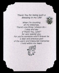 My Angel In Heaven Poem Name Thank You For Being A Blessing In My