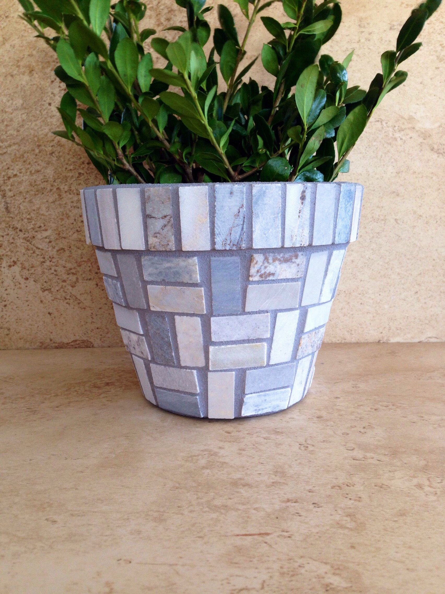 Excited To Share The Latest Addition To My Etsy Shop Mosaic Planter Rustic Flower Pot Outdoor Patio Pot Indoor Plant Planter G Mosaic Flower Pots