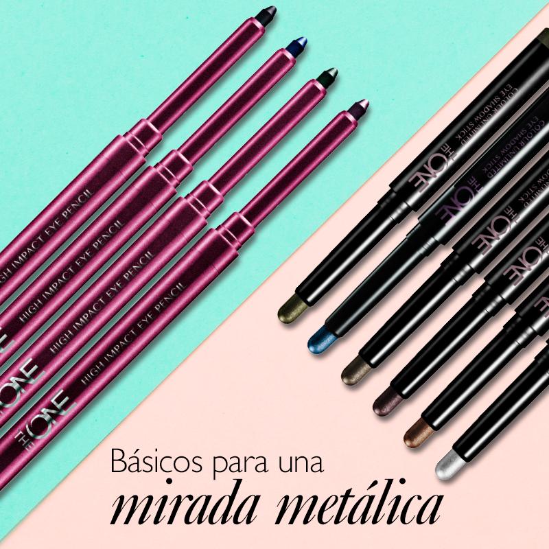 ¡Combina las sombras en barra con los delineadores para resaltar tu mirada! #OriTip: Elige tonos que hagan más intenso el color de tus ojos