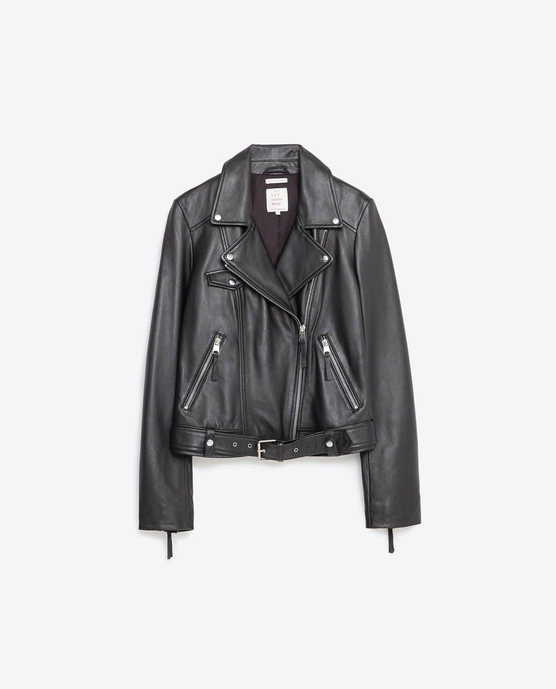 Basic Leather Jacket Trf New In Zara Leather Jacket Leather Jacket Black Leather Jackets Women [ 2379 x 1920 Pixel ]