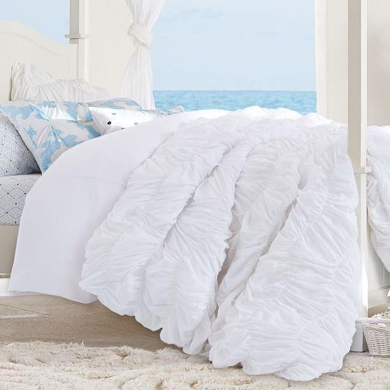 Kelly Slater Organic Tide Ruched Duvet Cover Sham Bed Linens Luxury Sports Bedding Organic Duvet Covers