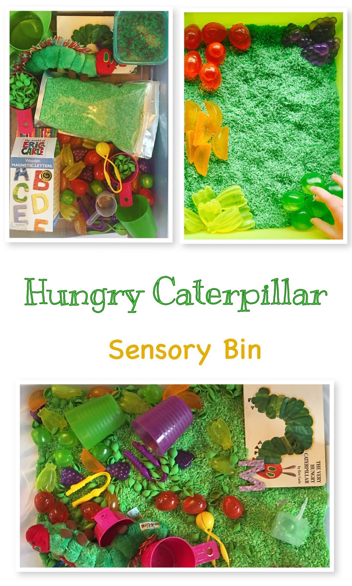 The Very Hungry Caterpillar Inspired Sensory Bin Great For Toddlers Preschoolers Pre K