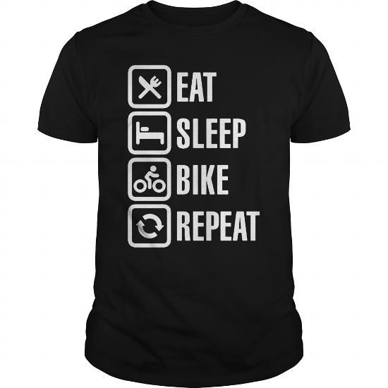 a2a4d0d4 I Love Bicycle Eat sleep bike repeat Tshirt cycling shirt T shirts ...