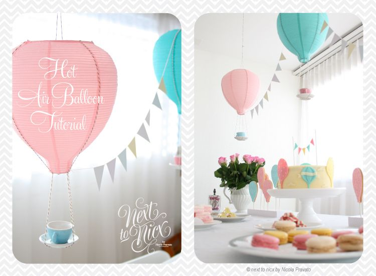 Hot Air Balloon Decoration Tutorial Using Stuff From Ikea Would Be Great For