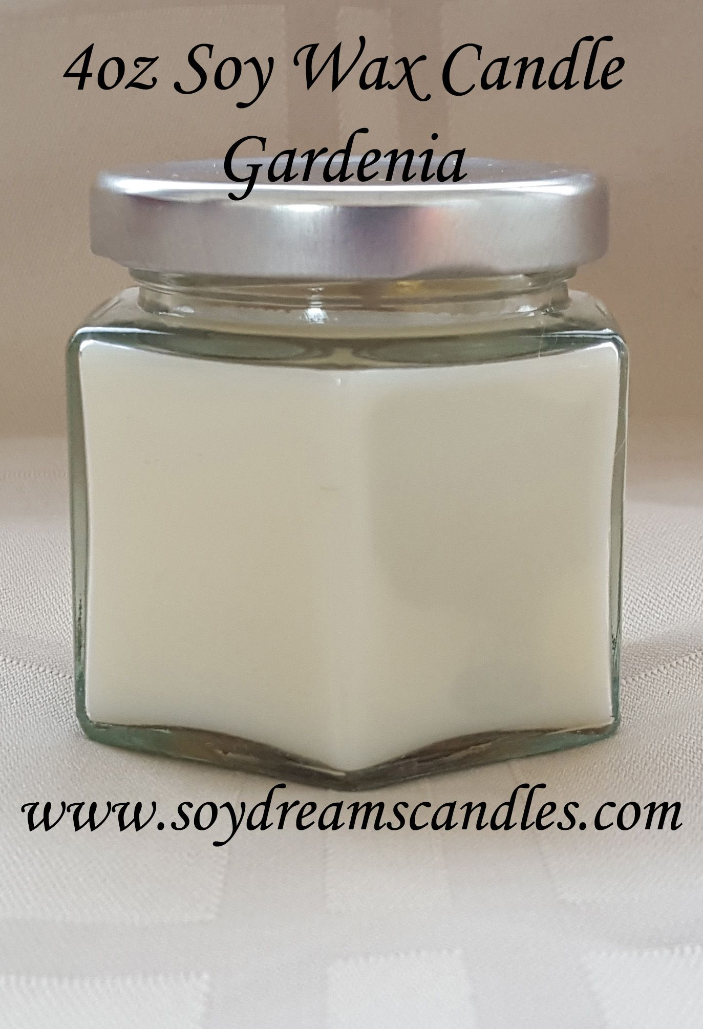 Gardenia Candle - 4oz Gift Size Soy Candle Jar - White Candle - Best ...