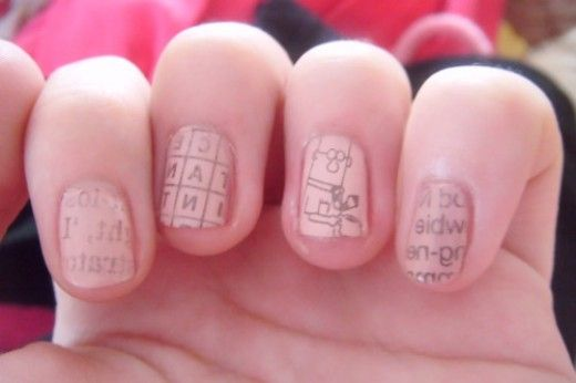 Creative Nail Art Diy Newspaper Nails Newspaper Nails Creative