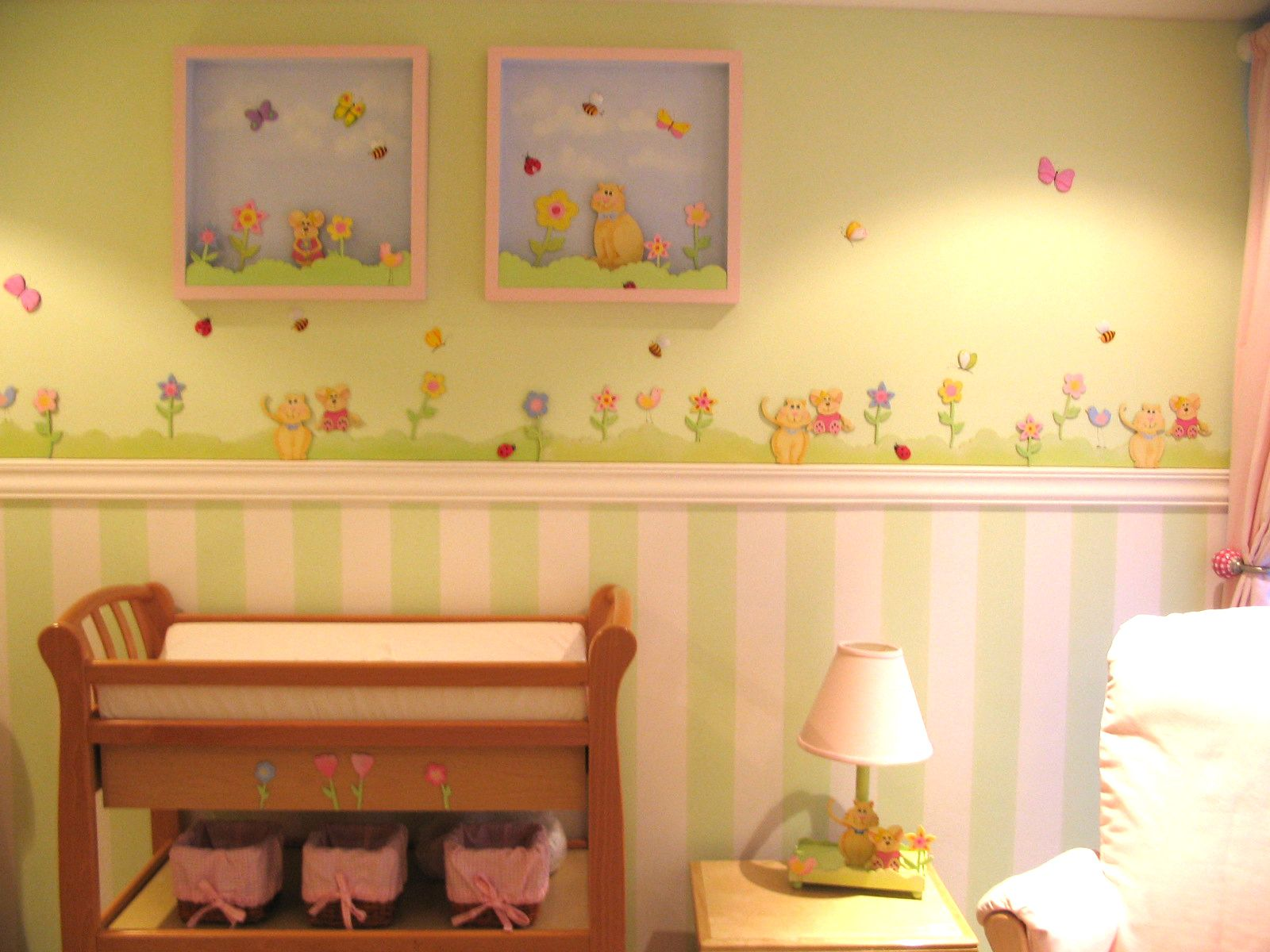 Fine Pink Wall Decor For Nursery Gallery - The Wall Art ...