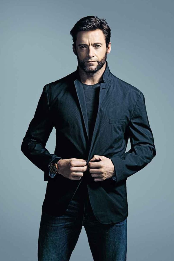 Man Actor Hugh Jackman From X Men Wolverine In A Black Blazer Posing For A Photoshoot Hugh Jackman Wolverine Hugh Jackman Hugh Jackman Hot