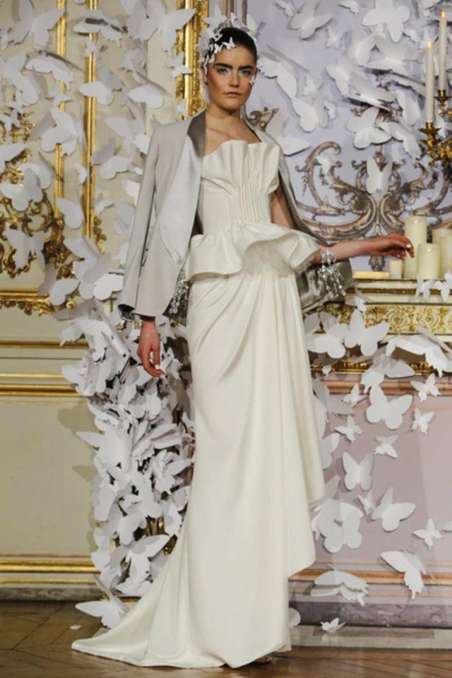 Abiti da sposa Haute Couture Parigi 2014 - http://www.tentazionedonna.it/abiti-da-sposa-haute-couture-parigi-2014/ #sposa #wedding #HauteCouture #Parigi #abitodasposa #tendenze #AlexisMabille Couture #Collection #SS2014