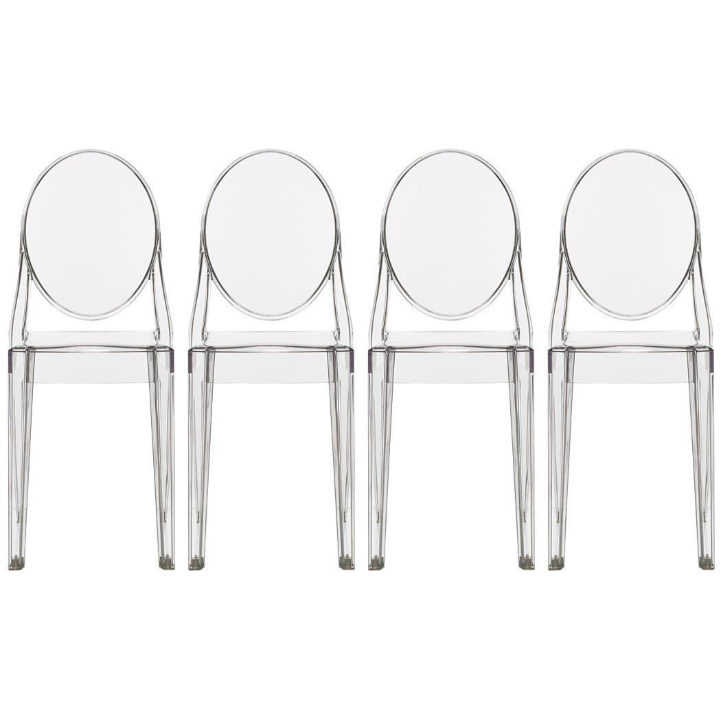2Xhome Set Of 2 Standard Size  Clear Plastic Dining Chairs Adorable Standard Dining Room Chair Dimensions Design Inspiration