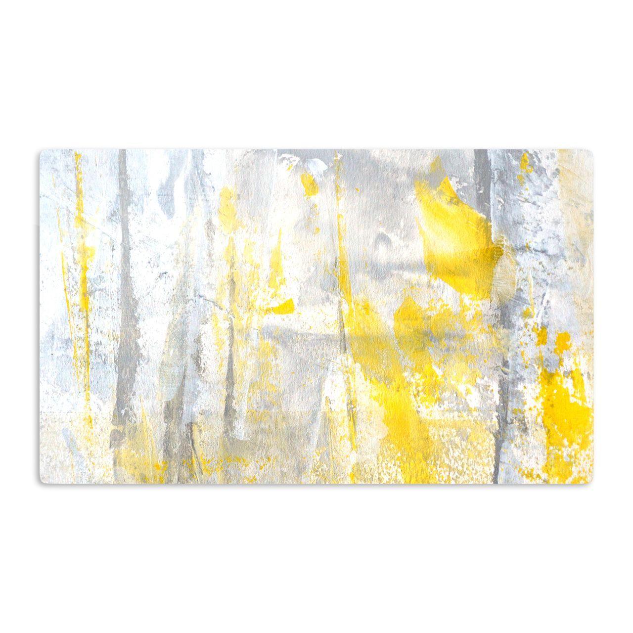 Kess inhouse carollynn tice uabstractionu yellow artistic magnet