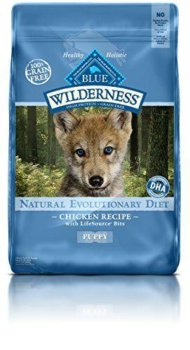 Blue Wilderness Puppy Grain Free Chicken Dry Dog Food 24 Lb Blue