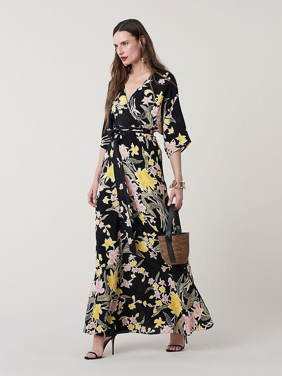 1c16e49686 Diane von Furstenberg Eloise Silk Maxi Wrap Dress in 2019 | Fashion ...