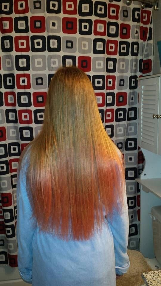 My Hair Dip Dyed With Watermelon Kool Aid I Added Cherry To It Today Too Dipped Hair Dip Dye Hair Dyed Hair