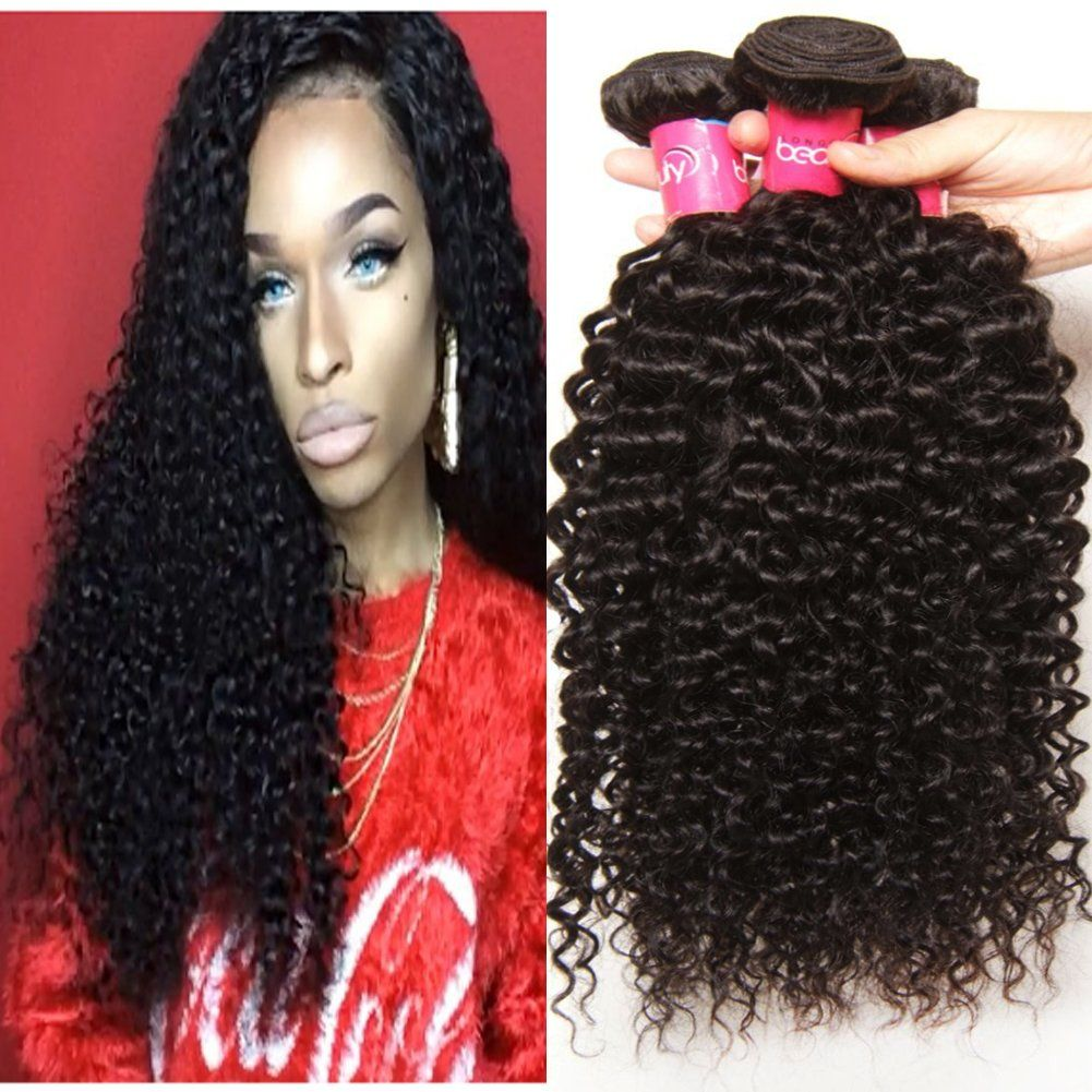 Longqi Hair Brazilian Curly Hair 3 Bundles Grade 6a Raw Virgin Hair