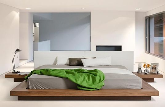 Opal Modern Low Profile Platform Bed Platform beds, Modern and