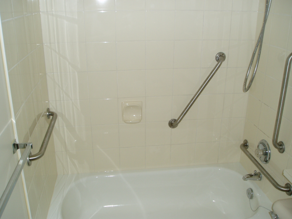 angled, grab bars, sloped grab bars, placement of shower grab bars
