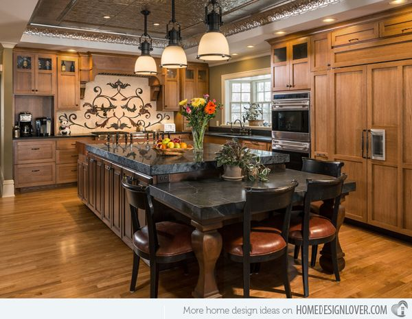 15 Traditional Style Eat In Kitchen Designs Home Design Lover Kitchen Floor Plans Kitchen Design Kitchen Remodel