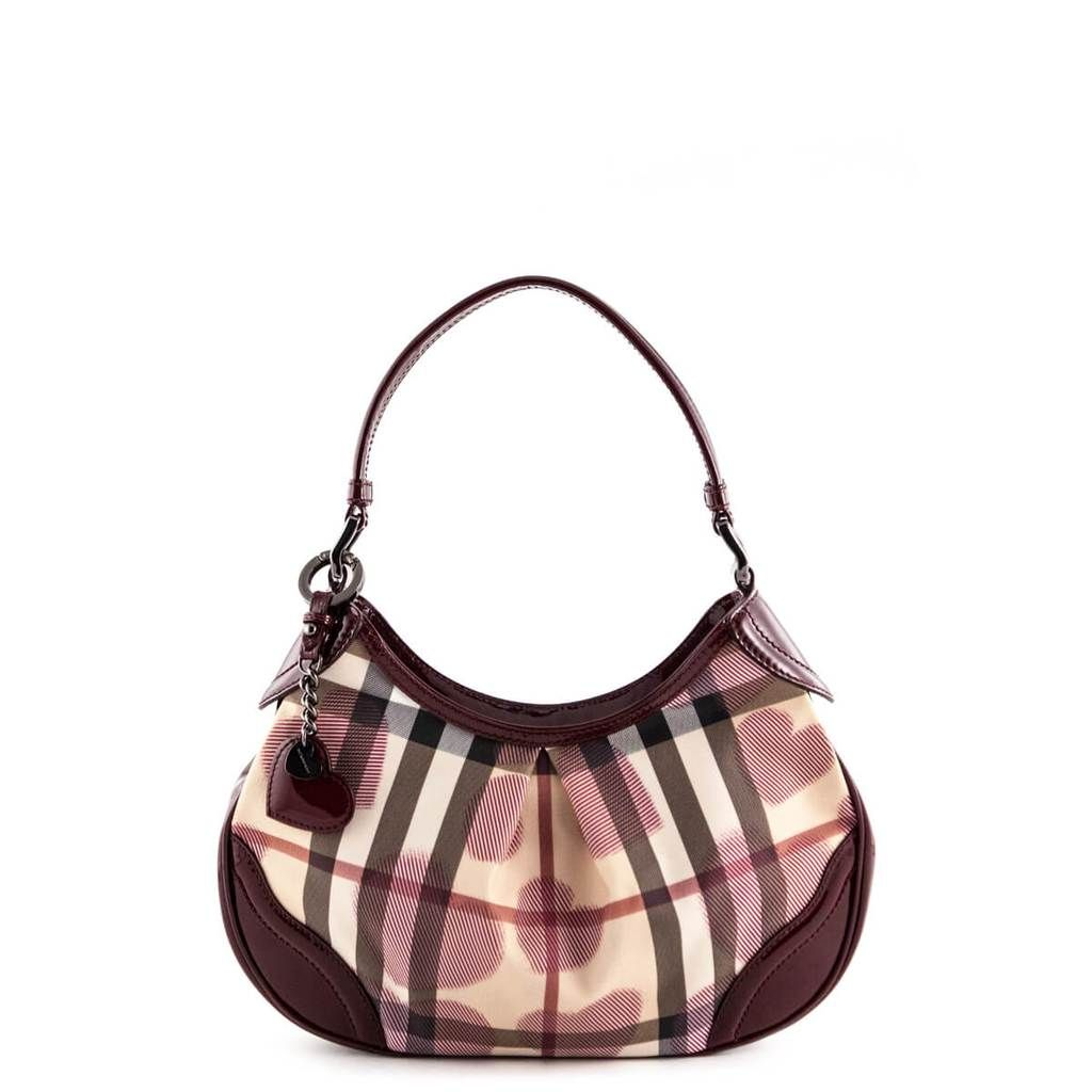Burberry Nova Check Patent Leather Heart Hobo - LOVE that BAG - Preowned  Authentic Designer Handbags 95b028541a0ad