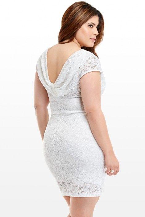 Emma Lace Draped Dress