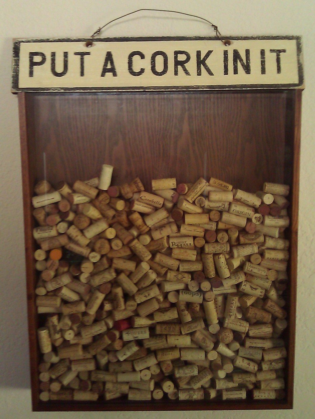 Bar backsplash? Corks - great way to decorate while collecting for ...